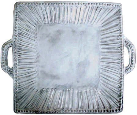 Vietri Incanto Stripe Square Handled Platter by VIETRI