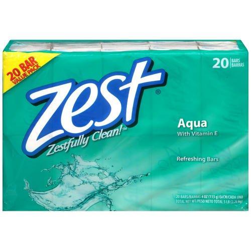 Zest Bar Soap Aqua 4oz Bar Soaps - 20 Bars