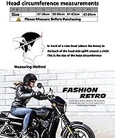 CARACHOME Casco Moto Vintage,Casco Integral,Harley 3/4 Casco ...