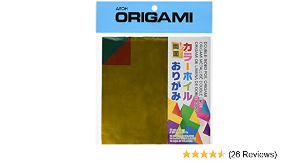 Aitoh Origami Paper DS-1 Double Sided Color & Foil 5 7/8