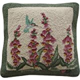 "Hummingbird Garden Green Rug and Accessories Size: Square Pillow 18"" x 18"""