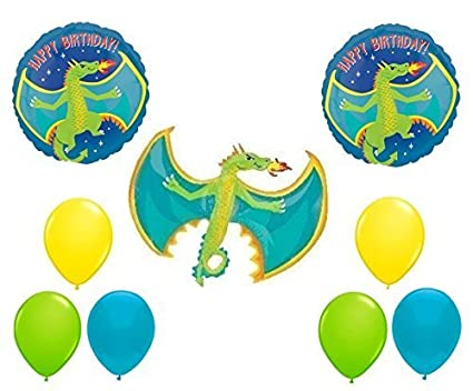 Amazon Com Flying Dragon Happy Birthday Balloon Bouquet By Party