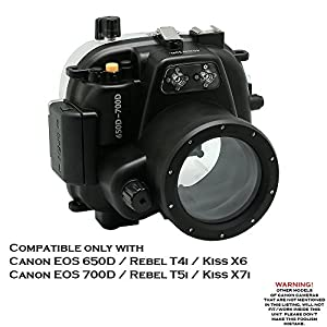 40m/130ft Underwater camera housing for Canon EOS 650D/700D ( Rebel T4i/T5i )
