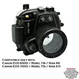 Meikon 40m/130ft Underwater camera housing for Canon EOS 650D/700D ( Rebel T4i/T5i )