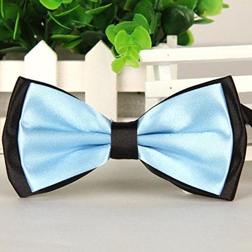 Hermes Designer Ties Silk Necktie - BXzhiri Bow Ties for Men Classic Men' s Satin Adjustable Bowtie Men's Pre Tied Bow Ties for Wedding Party Fancy Plain