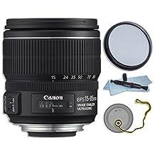 Lens Bundle: Canon 15-85mm f/3.5-5.6 IS USM EF-S Lens (white box) with a 72mm UV Digital Multi Coated Filter, Lens Pen Cleaning System & Lens Cap Holder