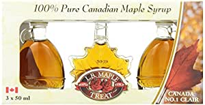 L B Maple Treat Maple Syrup in Fancy Glass Gift Box, 150ml