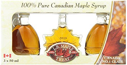 L B Maple Treat Maple Syrup in Fancy Glass Gift Box, 150ml/5.07fl oz