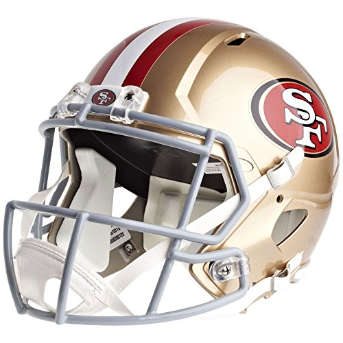 San Francisco 49ers Officially Licensed Speed Full Size Replica Football Helmet by Riddell