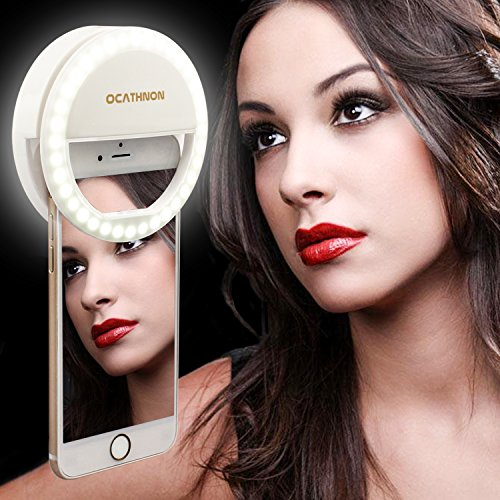 Price comparison product image Ocathnon Ring Lights for iPhone Selfie Ring Light,36 LED Fill-in Lighting for Girl Makeup Lights Night Darkness Spotlight iPhone 7 6s Plus Samsung Galaxy SmartPhones iPad and Mac Book White