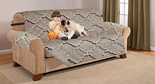 Deluxe Reversible Sofa Furniture Protector, ODYSSEY CHOCOLATE / TAUPE