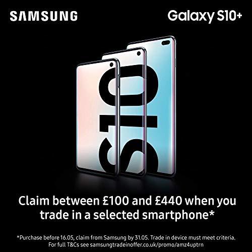 Samsung Galaxy S10+ Plus 128GB / 8GB RAM SM-G975F Hybrid/Dual-SIM (GSM Only, No CDMA) Factory Unlocked 4G/LTE Smartphone - International Version (Prism Green, 128GB) (Renewed)