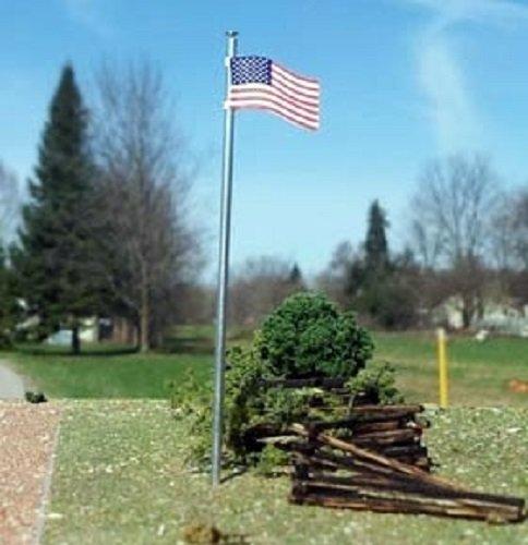 (Osborn Models HO * NEW Kit * Set of 3 * USA AMERICAN FLAG & POLE * Kit)