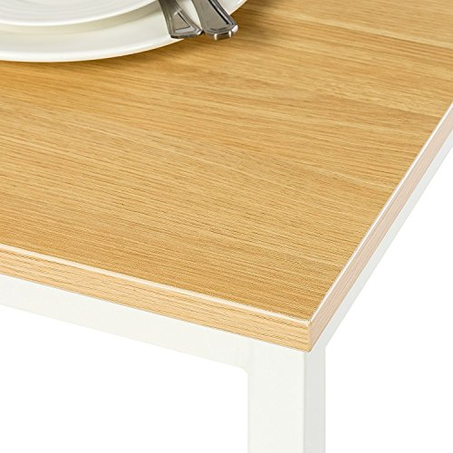 Zinus Louis Modern Studio Collection Soho Dining Table with Two Benches / 3 piece set, White by Zinus (Image #5)