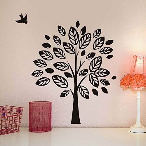 Bocetos a Mano alzada del árbol y del pájaro Pegatinas de Pared ...