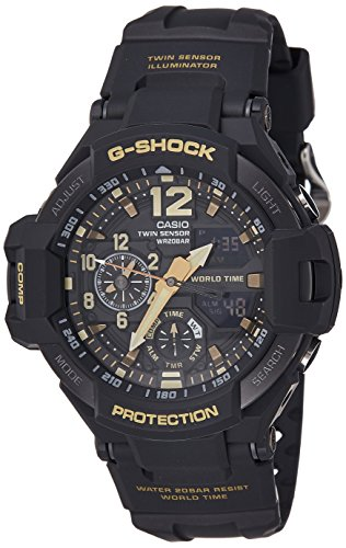 Price comparison product image Casio G-Shock Black Dial Men's GA1100GB-1A