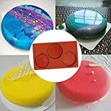 SourceTon 3-Cavity Large Round Silicone Disc Cake