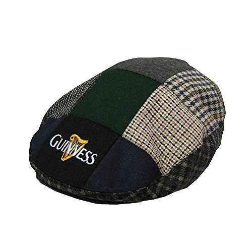 Guinness Patch Tweed Flat Cap - Unisex (Large)