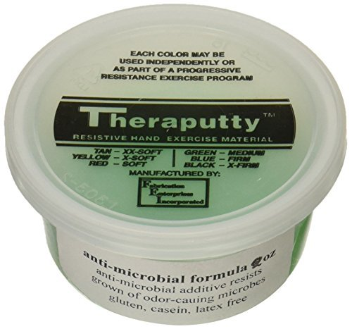 CanDo TheraPutty Plus Antimicrobial, 6 Piece Set, 2 oz