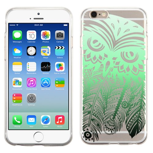 PhoneTatoos (TM) For iPhone 5S Dreamcatcher Owl Transparent Clear Candy Skin Cover (Dreamcatcher Owl Green-Black - Case 4 Lifeproof Camo Ipod