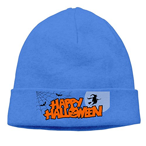 DETO Men's&Women's Halloween Patch Beanie CampingRoyalBlue Caps Hats (Tales Of Halloween Trailer)
