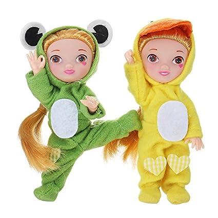 BOBOJW Llavero de Peluche de bebé, 10 cm Hot Mini muñecas ...