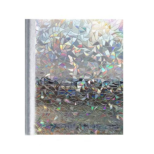 Privacy Window Films Frosted Glass Cling Door Covering Window Cling for Privacy Window Blurring Film Rainbow Light on Patio Door Sliding Glass Sidelight Door Stickers 17.5in.by78.7inch (44.5cm×200cm) by Kitten Fishing