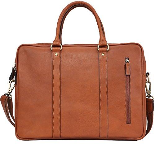 Banuce Vintage Leather Tote Briefcase for Men Business Messenger 14 inch Laptop Bag by Banuce (Image #3)