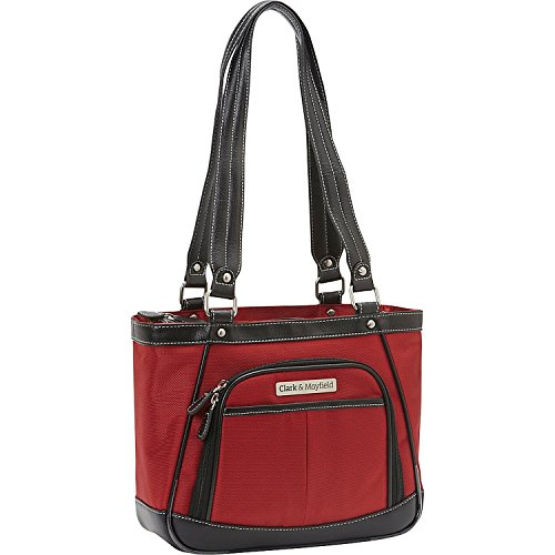 Clark and Mayfield Sellwood Metro 10'' Mini Tablet Handbag, Computer Bag in Red by Clark & Mayfield