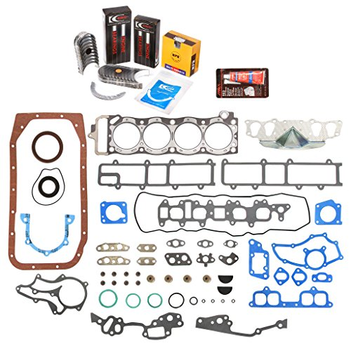 Bearing Pickup Main Set (Evergreen Engine Rering Kit FSBRR2000\0\0\0 Fits 85-95 Toyota 4Runner Pickup Celica 22R 22RE 22REC Full Gasket Set, Standard Size Main Rod Bearings, Standard Size Piston Rings)