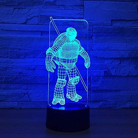 La lámpara de color Samurai Shape 7 3D Luces de la noche con luz visual para niños Barra USB de la mesa Lampara Lampe Baby Sleeping Nightligh: Amazon.es: ...