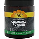 Country Life, Natural, Activated Coconut Charcoal Powder, 500 mg, 5 oz (141.7 g)