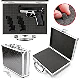 DURAGADGET Protective Silver Aluminium Flight Case With Shock Absorbing D.I.Y Customizable Foam Interior - Compatible with BB Guns & Accessories