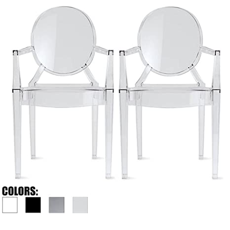 Amazon.com: 2 x Hogar – Estilo de Louis Ghost Lounge ...