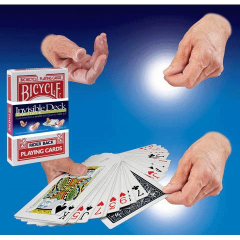 Jumbo Invisible Card Deck (1 per package) by Loftus
