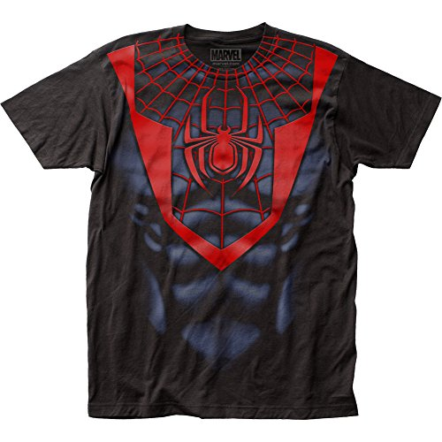 Spider-Man- Miles Morales Costume Tee T-Shirt Size XL]()