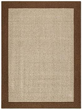 Amazon Com Size 1 8x2 10 Mainstays Faux Sisal Rug Color Brown Slip Resistant Latex Backing Furniture Decor