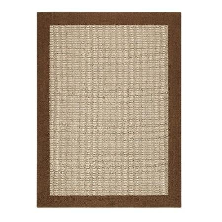(Size: 1'8x2'10) Mainstays Faux Sisal Rug (Color: Brown) Slip-Resistant, Latex Backing