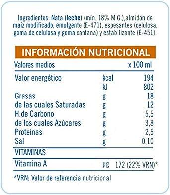 Puleva Nata para Cocinar - 200 ml: Amazon.es: Alimentación y bebidas