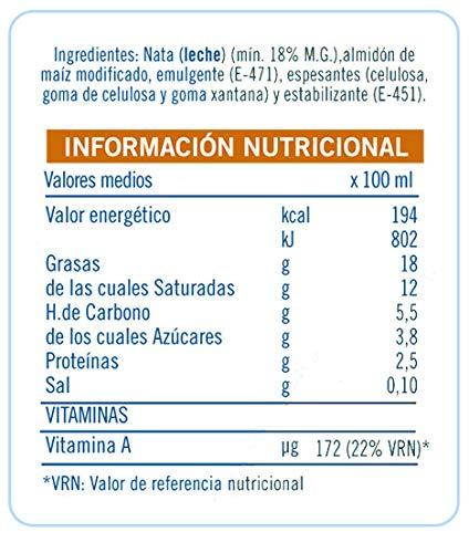 Puleva Nata para Cocinar 200 ml: Amazon.es: Alimentación y ...