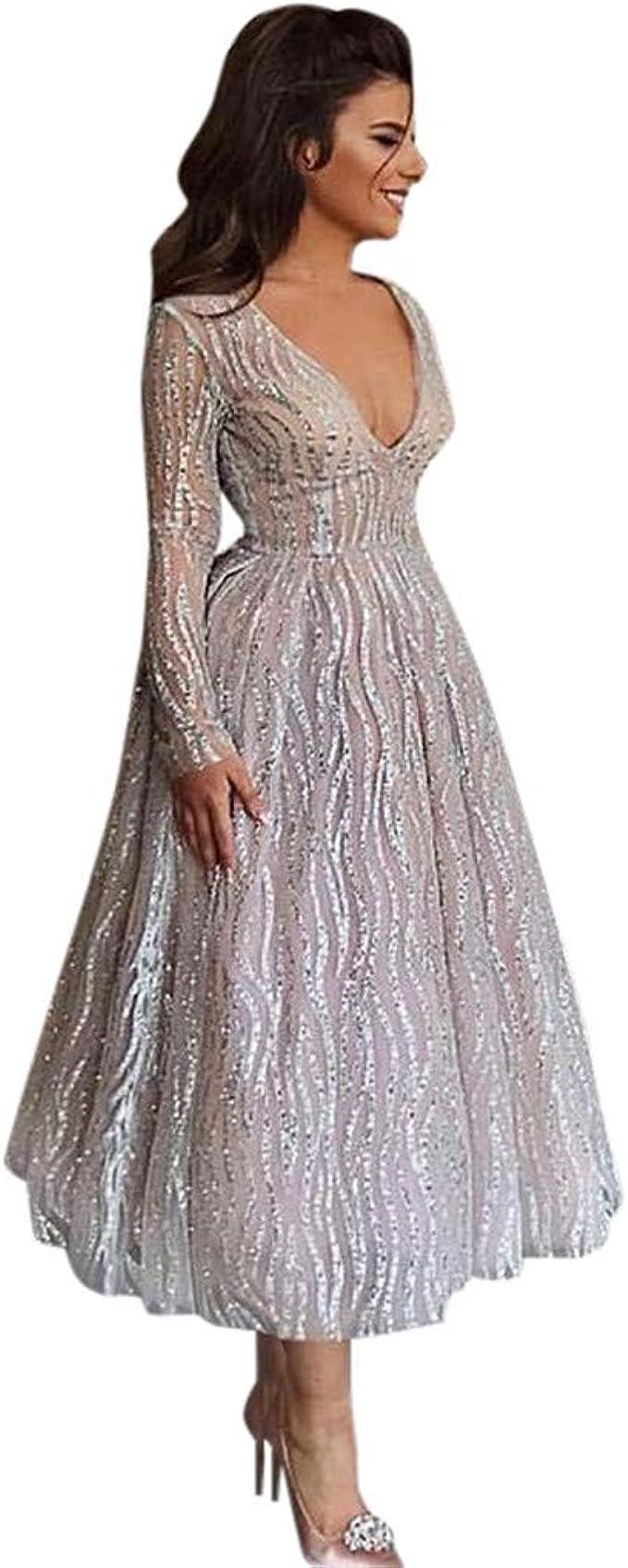 MAYOGO Damen Kleider Festliche Kleider für Damen Lang Tüllkleid