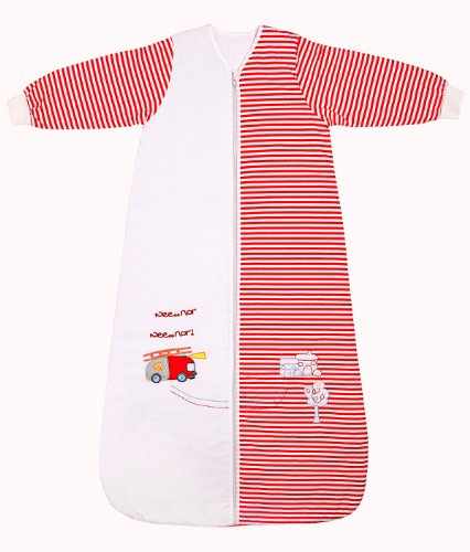 Slumbersafe Winter Kid Sleeping Bag Long Sleeves 3.5 Tog - Fire Engine, 3-6 years/XL by SlumberSac