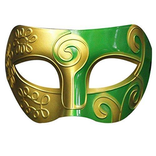 Masquerade Mask,Neartime Retro Roman Gladiator Swordsman Halloween Party Mardi Gras Masks (B) (Mardi Gras Outfits Ideas)