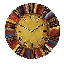 SEI Ojeda Wall Decor Clock, Multicolor
