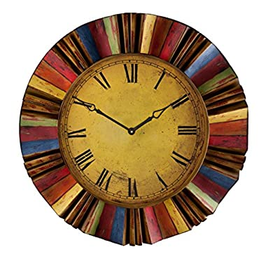 SEI Ojeda Wall Decor Clock, Multicolor