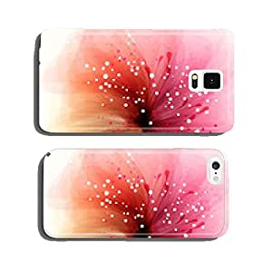 Vector background with flowers cell phone cover case Samsung S6