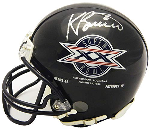 Kevin Butler Signed Chicago Bears/Super Bowl XX Champs Logo Riddell Mini ()