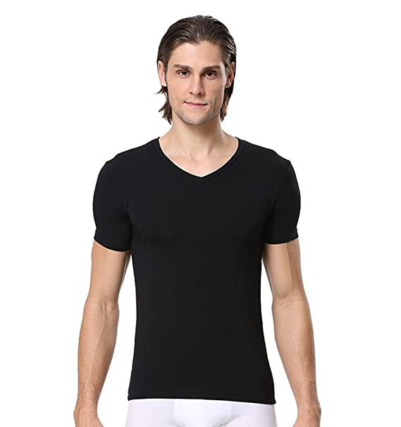 9d6edb0bbac73 Zuku Life Underwear Men s Micro Modal Slim Fit V-Neck T-Shirt at ...