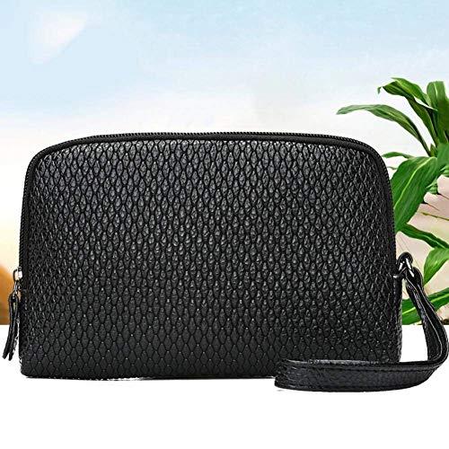 borsa frizione supporto Moontang cuoio sacchetto donne Nero Polsini della Rosa della del chiusura di delle del Dimensione della delle borse della Colore del moneta dell'unità lampo elaborazione n6Ef6