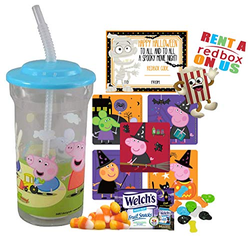 Peppa Pig Halloween Redbox Movie Night Fun Sip Favor Cup! Pre-Filled & Ready For Giving! Includes Keepsake Tumbler, Redbox Rental, Popcorn, Candy & Favors!]()